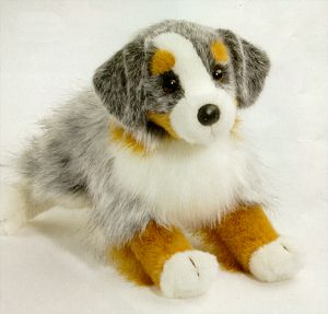 Sinclair the Stuffed Australian Shepherd