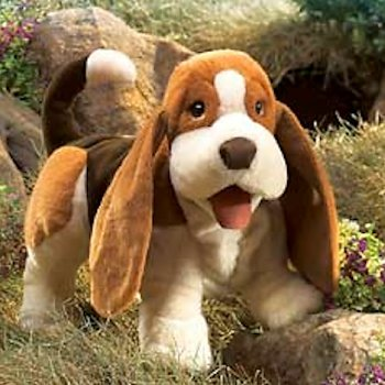 Stuffed Basset Hound