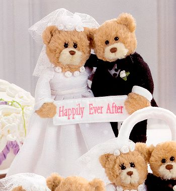 GUND Stuffed Plush Wedding Bears