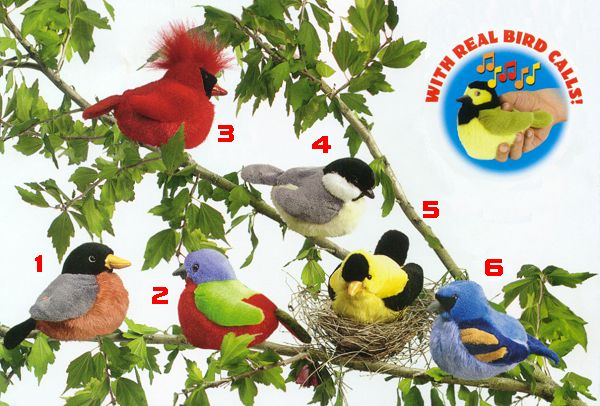 stuffed toys - Stuffed Audubon American Goldfinch - Birds