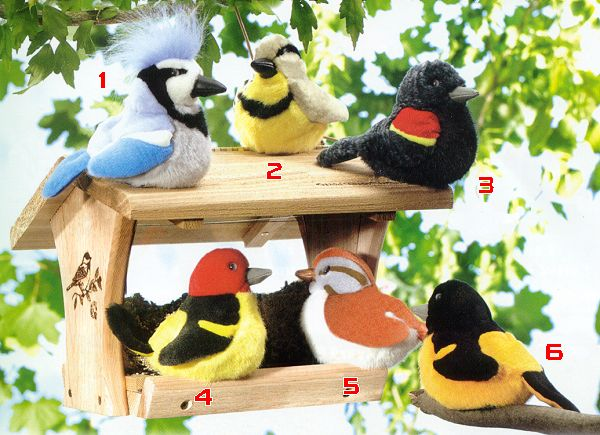 stuffed toys - Stuffed Audubon Baltimore Oriole - Birds