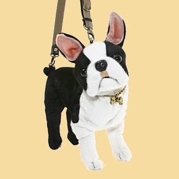 Stuffed Plush Boston Terrier Handbag