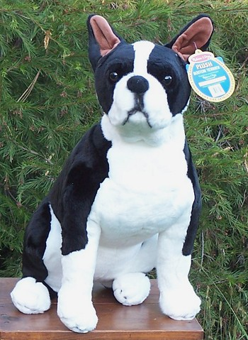 Big Boston Terrier Stuffed Animal