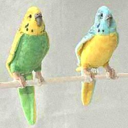 stuffed toys - Stuffed Yellow Budgerigar - Birds