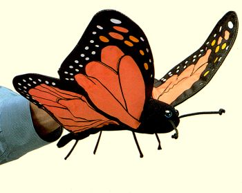 Folkmanis Plush Monarch Butterfly