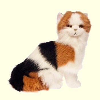 Plush Calico Cat Stuffed Animal