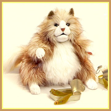 stuffed toys - Stuffed Fluffy Cat - Domestic Cats