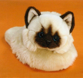 Stuffed Himalayan Cat Slippers - Stuffed Ark Corporation