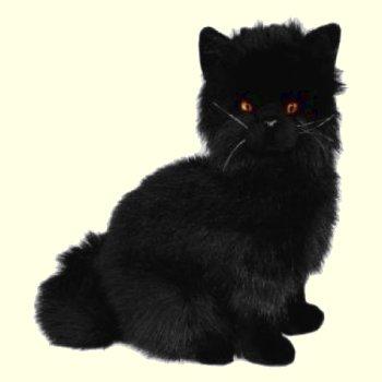 stuffed toys - Stuffed Black Persian Cat - Domestic Cats