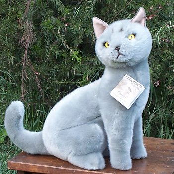 Stuffed Russian Blue Cat
