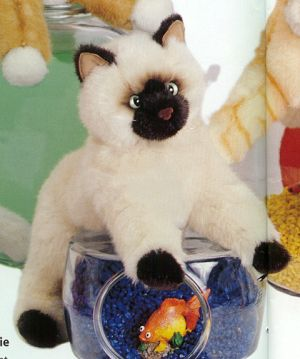 Tasha Stuffed Plush Himalayan Cat