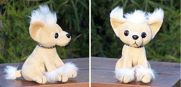 Stuffed Plush Chinese Crested Dog From