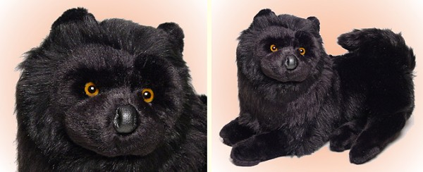 stuffed toys - Stuffed Black Chow Chow - Dogs
