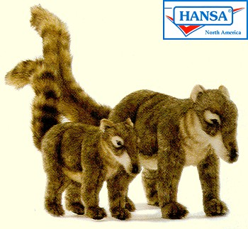 Hansa Stuffed Plush Coatimundis