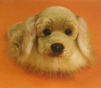 stuffed toys - Stuffed Cocker Spaniel Slippers - Dogs