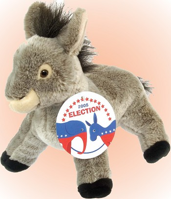stuffed toys - Stuffed Democratic Party Donkey - Farm Animals