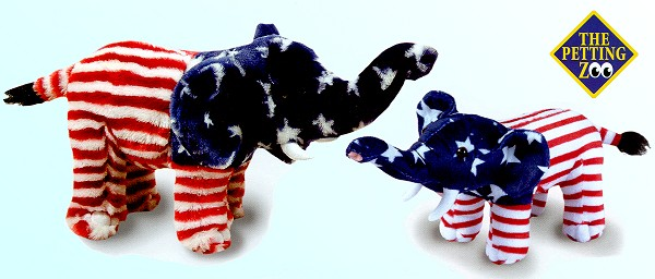 Stuffed Plush Patriotic Elephants