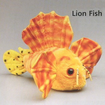 Plush lion fish stuffed animal for Fish stuffed animal
