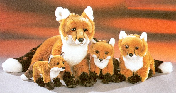 Stuffed Plush Red Foxes from Stuffed Ark