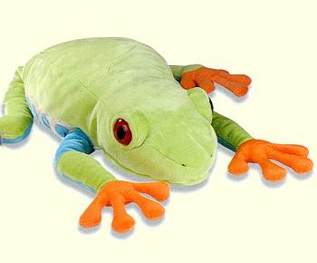 GIANT Stuffed Plush Red-Eyed Tree Frog