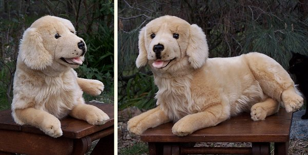 Bocchetta Lucky Plush Golden Retriever Stuffed Animal