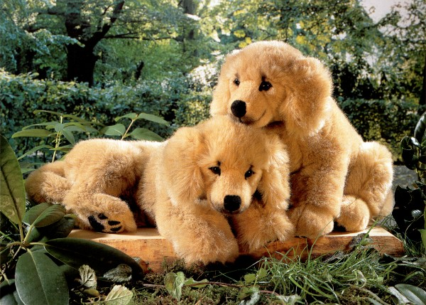 Kosen Stuffed Golden Retriever Puppies