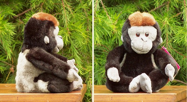 Wildlife Artists Sitting Stuffed Plush Gorilla