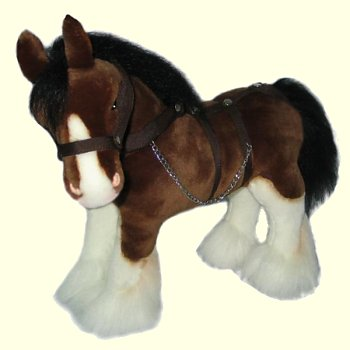 Stuffed Clydesdale Horse