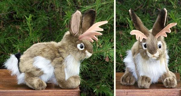 stuffed toys - Stuffed Jackalope - Bunny Rabbits