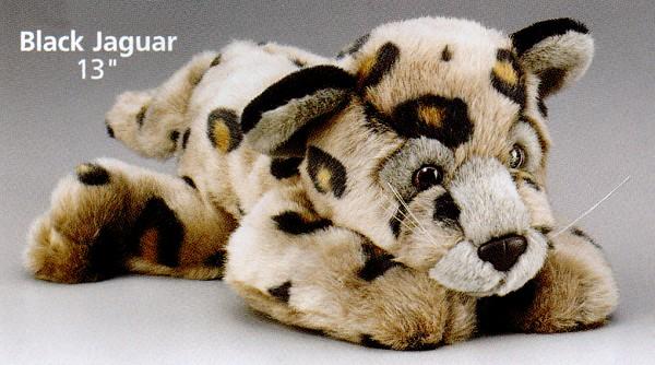 Stuffed Plush Black Jaguar Cub From Stuffed Ark
