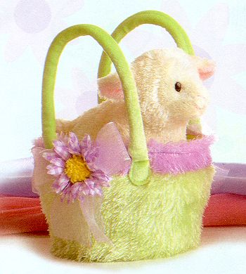 """Fancy Pals"" Plush Lamb In A Basket"