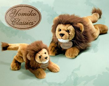 Lifelike lying floppy plush Lions in a choice of sizes from the Russ ...
