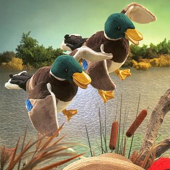 Mallard Duck Stuffed Animal Hand Puppets