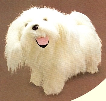 Melissa and Doug Stuffed Plush Maltese Terrier