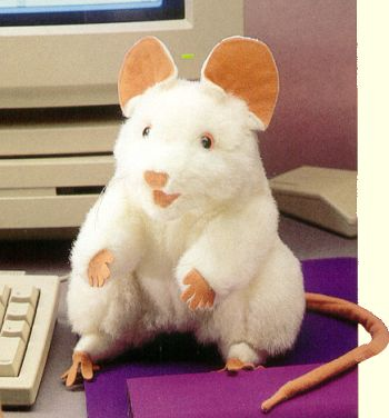 Folkmanis Stuffed White Mouse