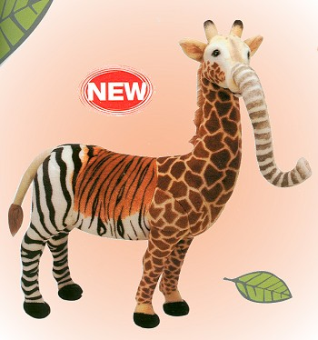Fiesta Stuffed Plush Mysterious Animal Zebra Weight