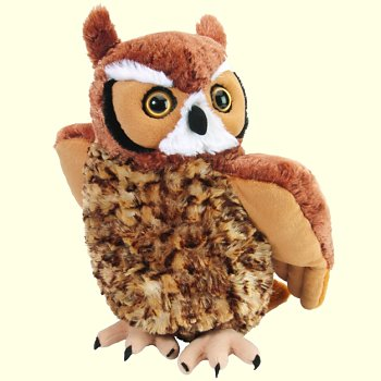 stuffed toys - Stuffed Great Horned Owl - Birds