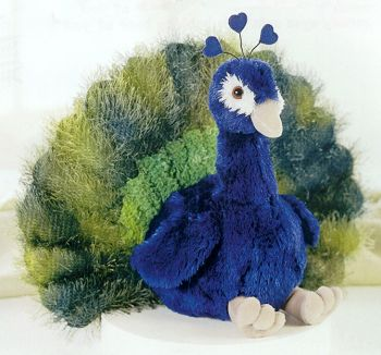 Stuffed Plush Peacock Toy