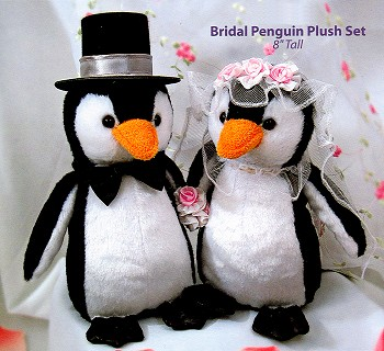 Stuffed Plush Wedding Penguins