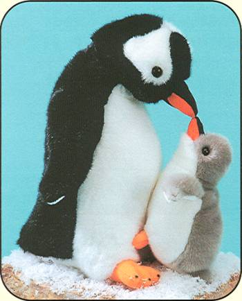 Plush Fiesta Gentoo Penguin and Baby