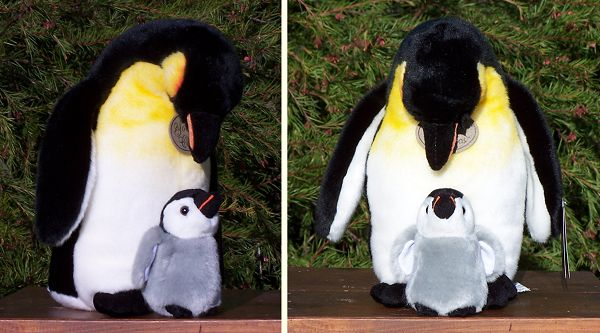 stuffed toys - Stuffed Emperor Penguin and Baby - Sea Creatures