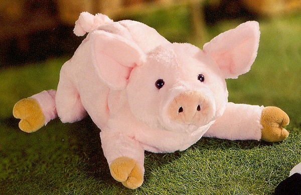 Stuffed Pink Pig by Gund