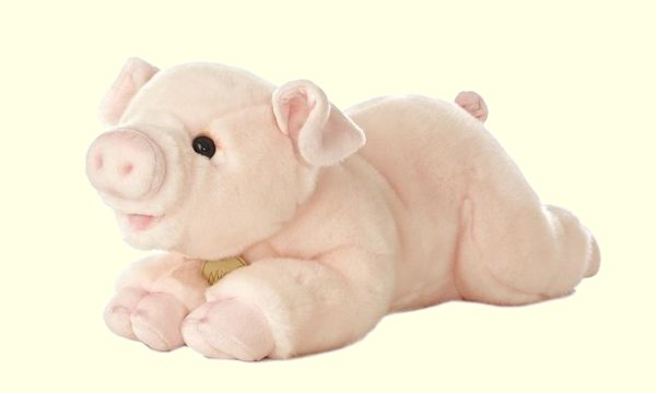 stuffed toys - Stuffed Pink Pig - Farm Animals