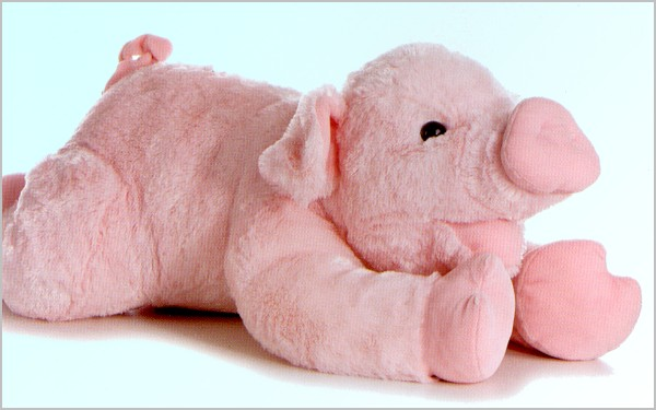 Stuffed Pig by Aurora