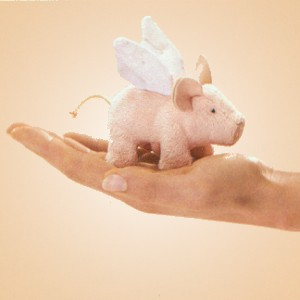 stuffed toys - Stuffed Winged Piglet - Farm Animals