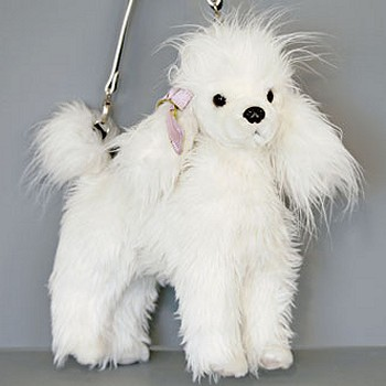 Plush White Poodle Handbag