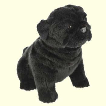 Oreo the Black Pug Stuffed Animal