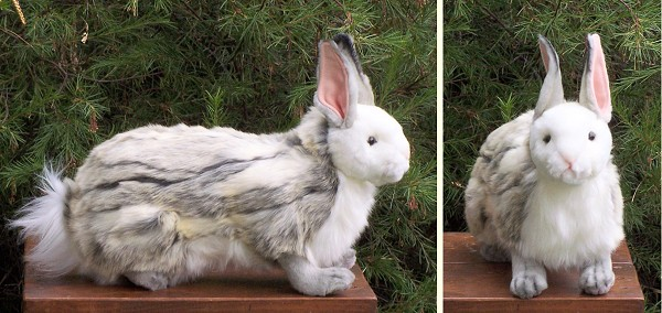 Hansa Stuffed Plush Jacquard Rabbit