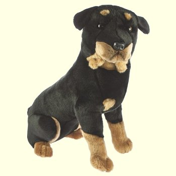 Bocchetta Sitting Rottweiler Stuffed Animal