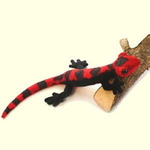 Hansa Plush Black and Red Salamander